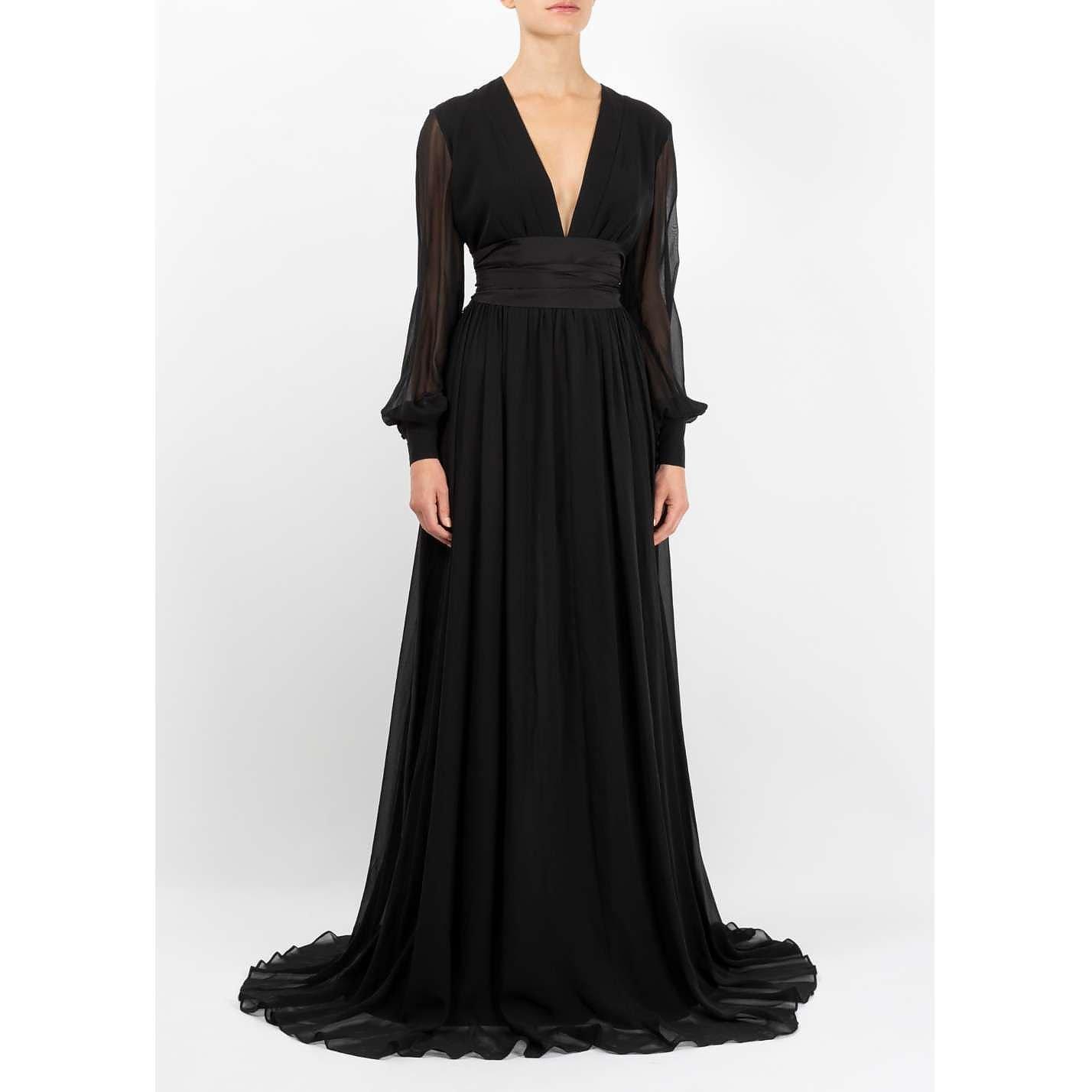 Dhela Silk Chiffon Gown
