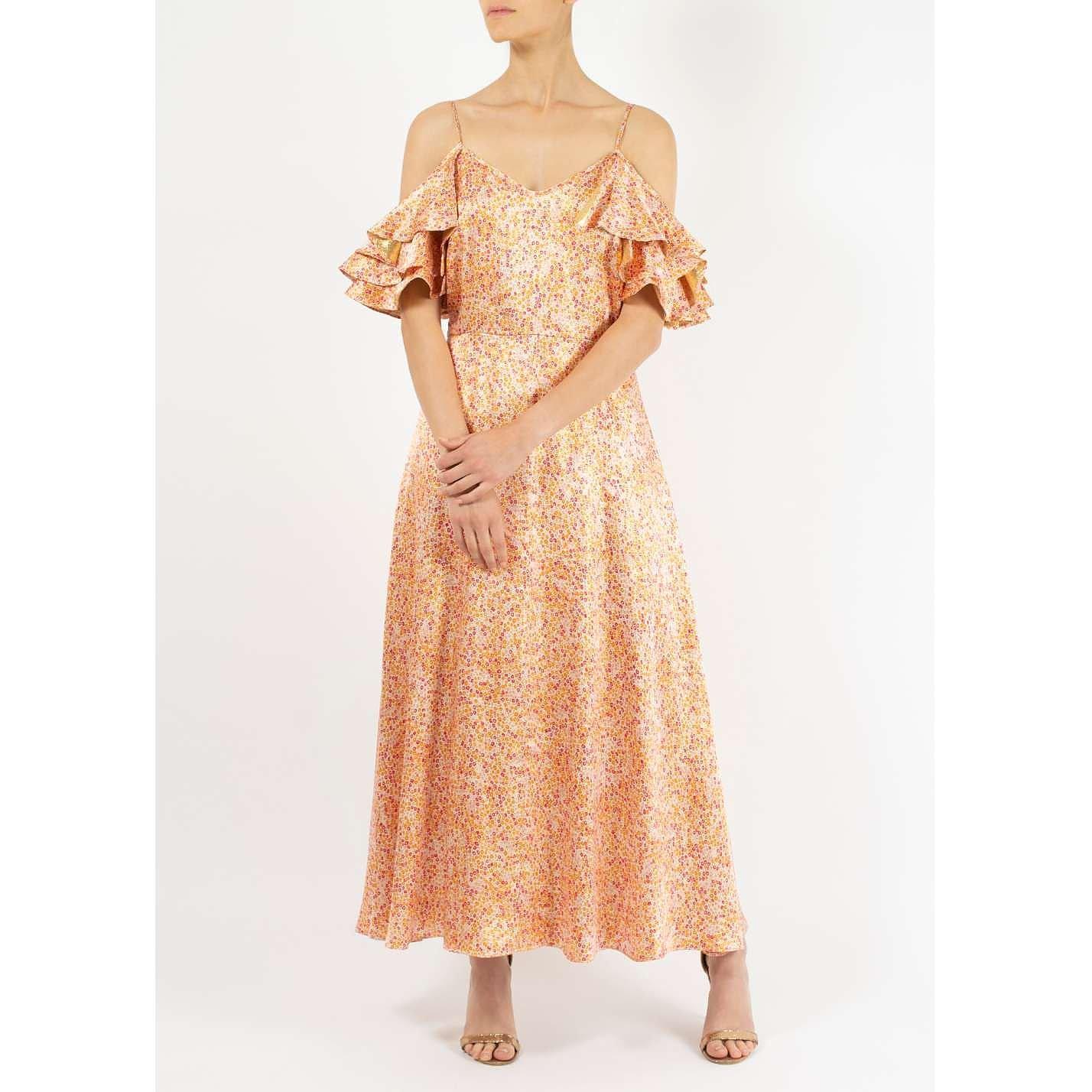 Dhela Ruffled Silk Dress