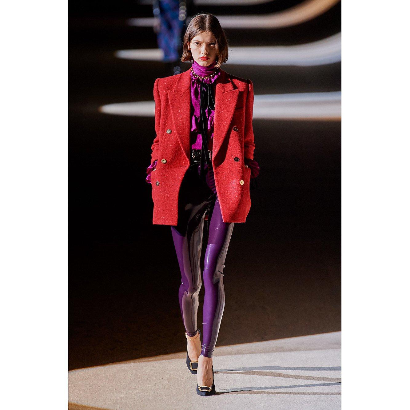 Yves Saint Laurent High-Waisted Latex Trousers