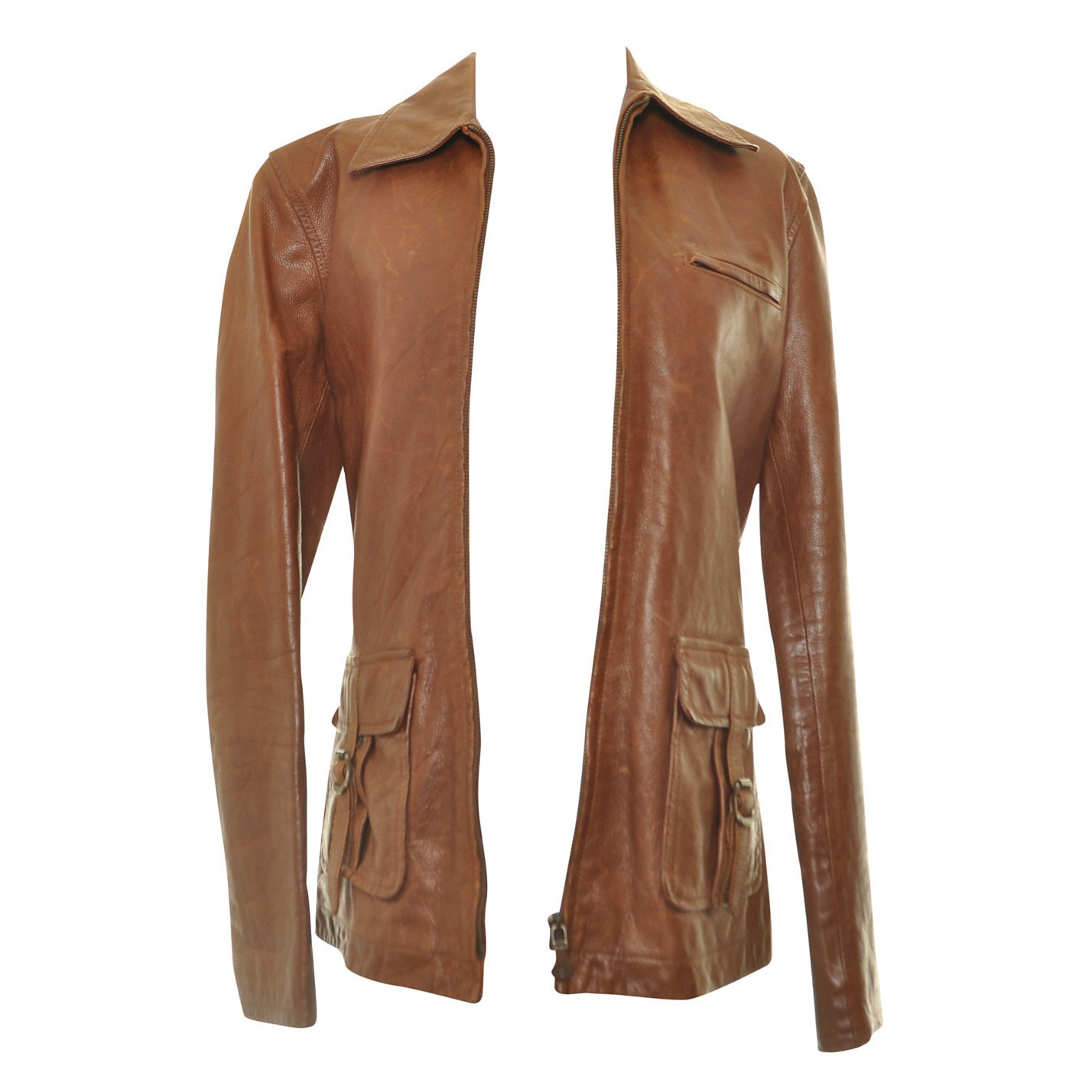 Ralph Lauren Buckle-Detail Leather Jacket