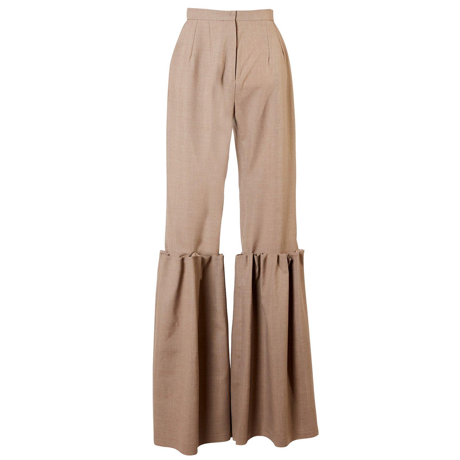 Maison Bent Gathered Trousers