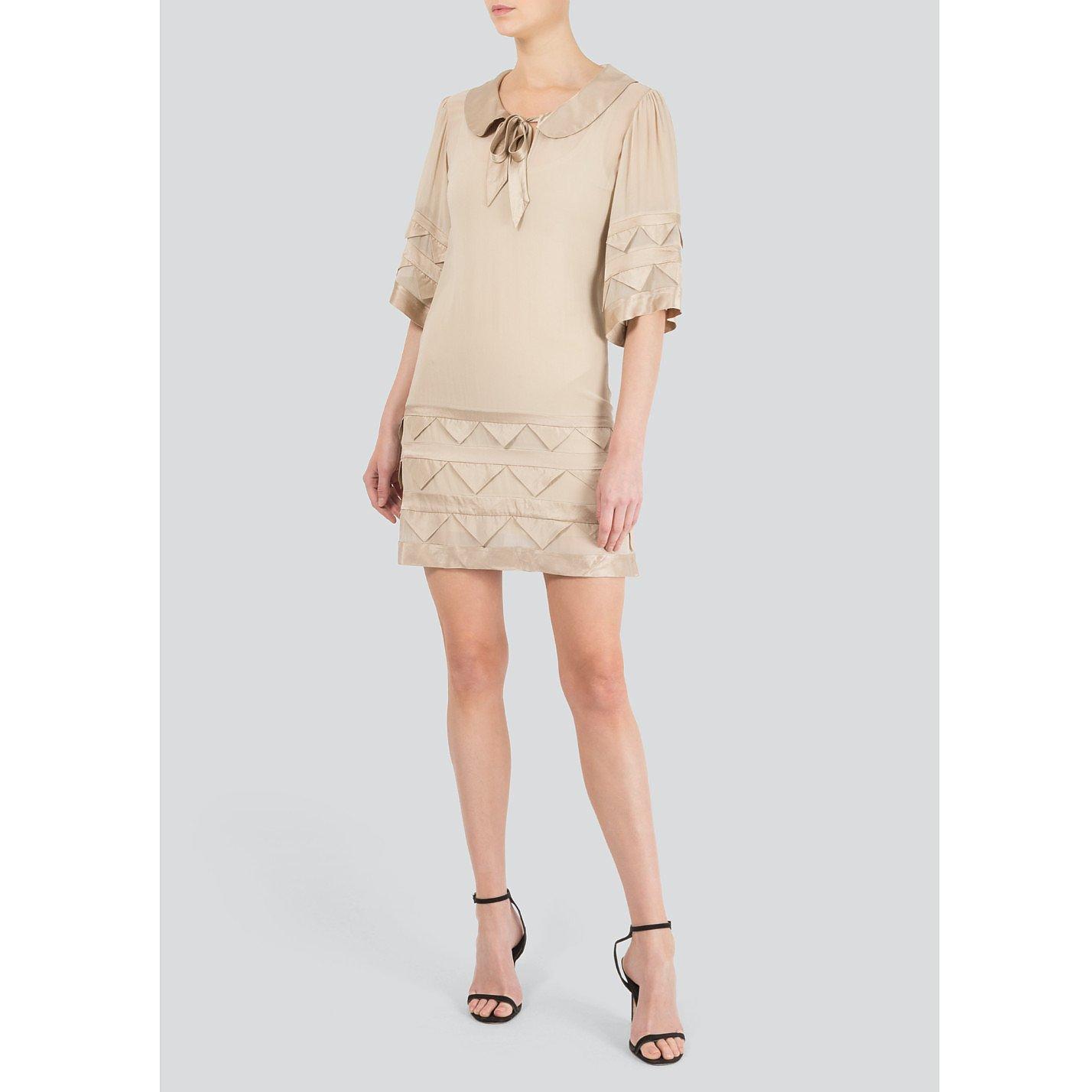 Temperley London Satin Applique Mini Dress