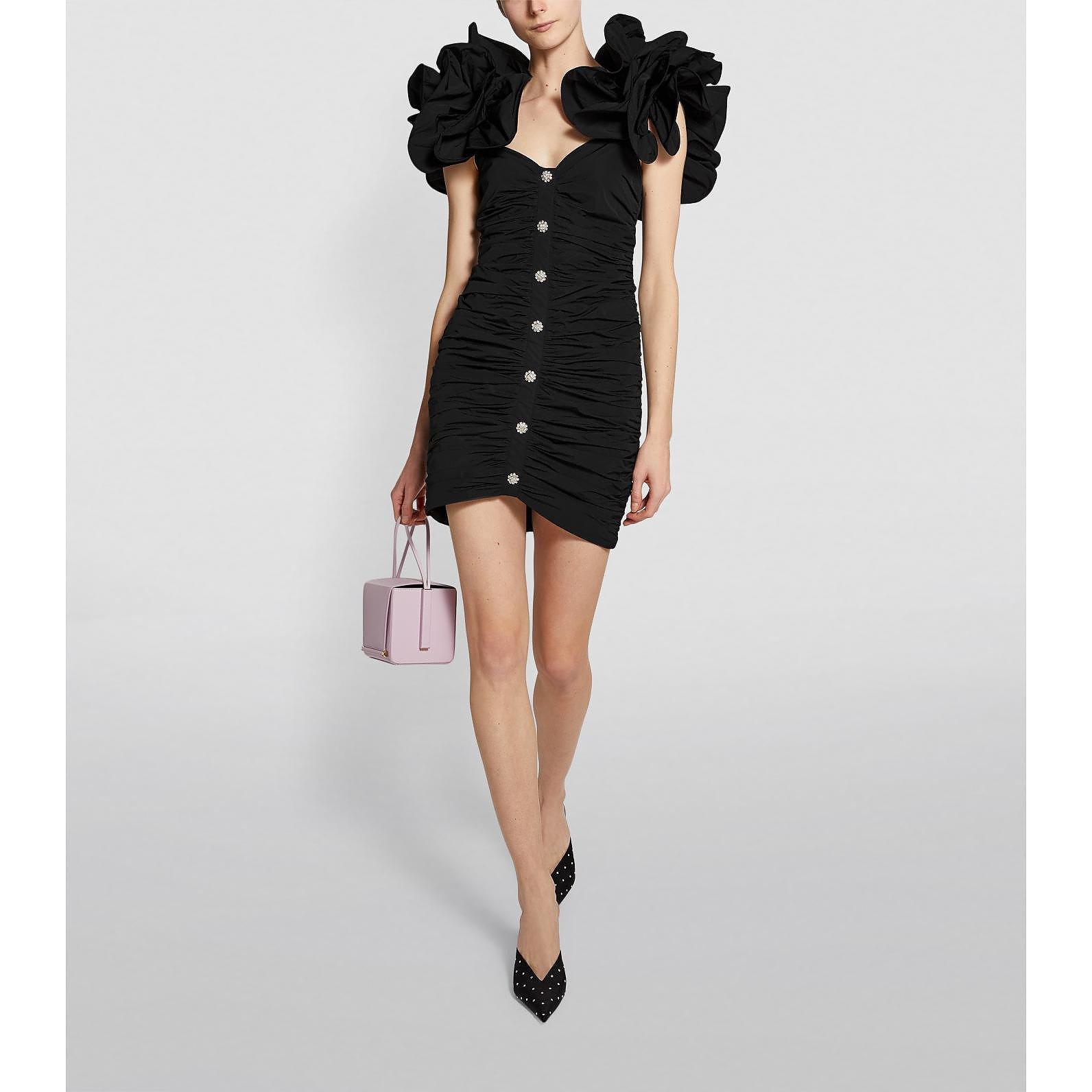 Alessandra Rich Puff-Sleeved Mini Dress