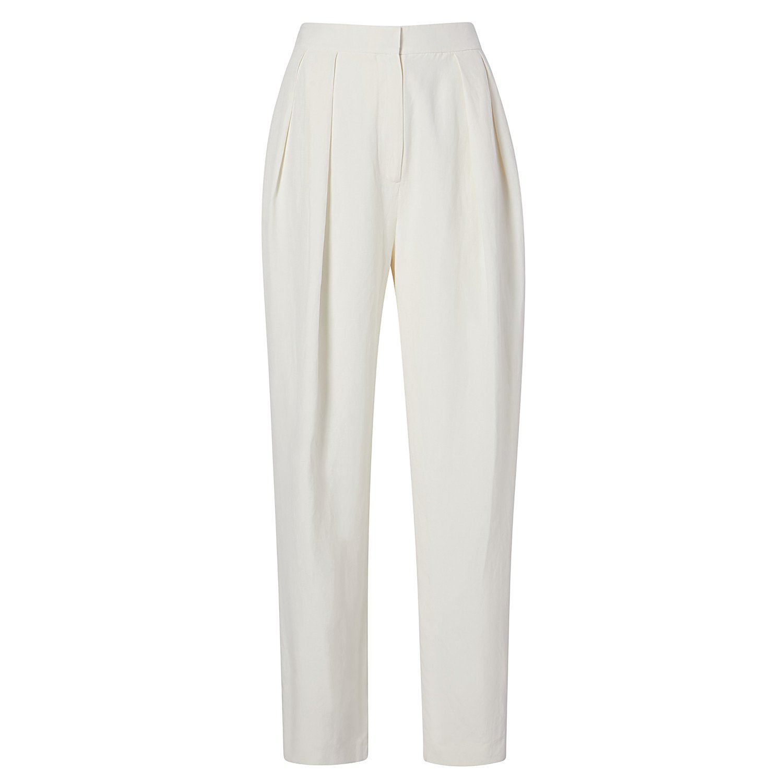 Noon By Noor Lenny Silk Linen Trousers