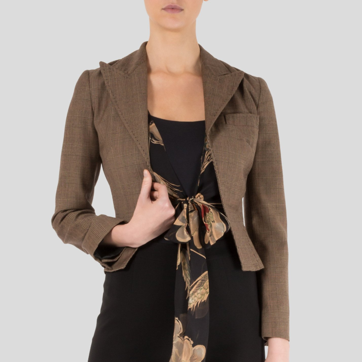 DOLCE & GABBANA Cropped Check Jacket