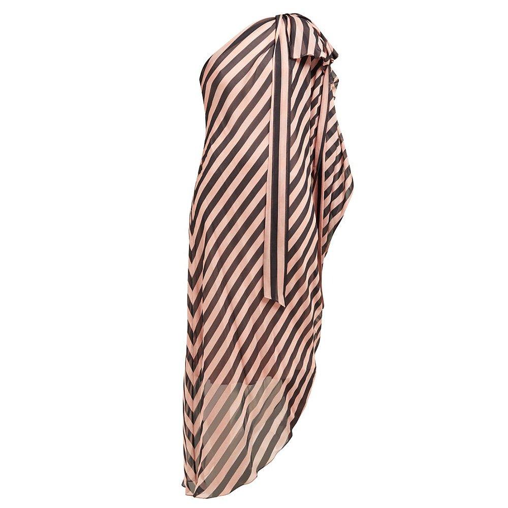 Temperley London Asymmetric Striped Dress