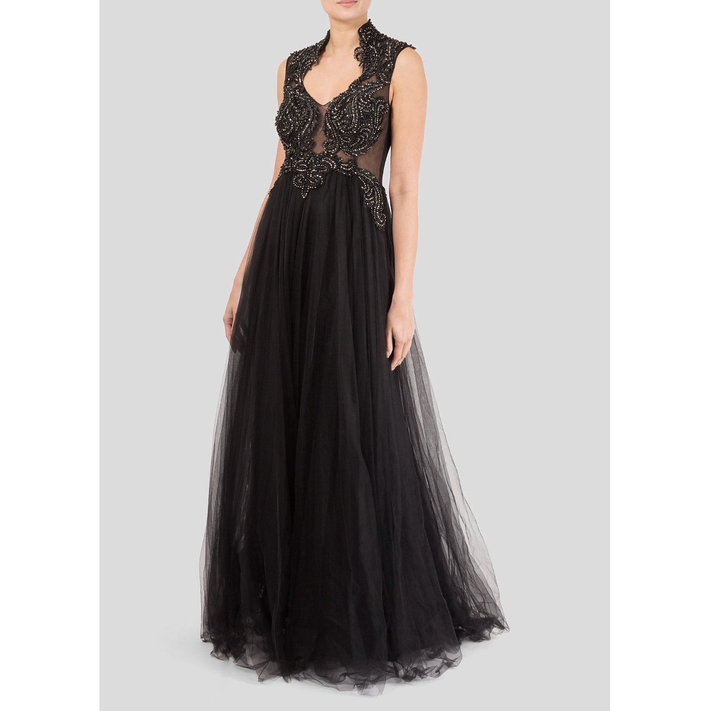 F&P Embroidered Mesh Gown