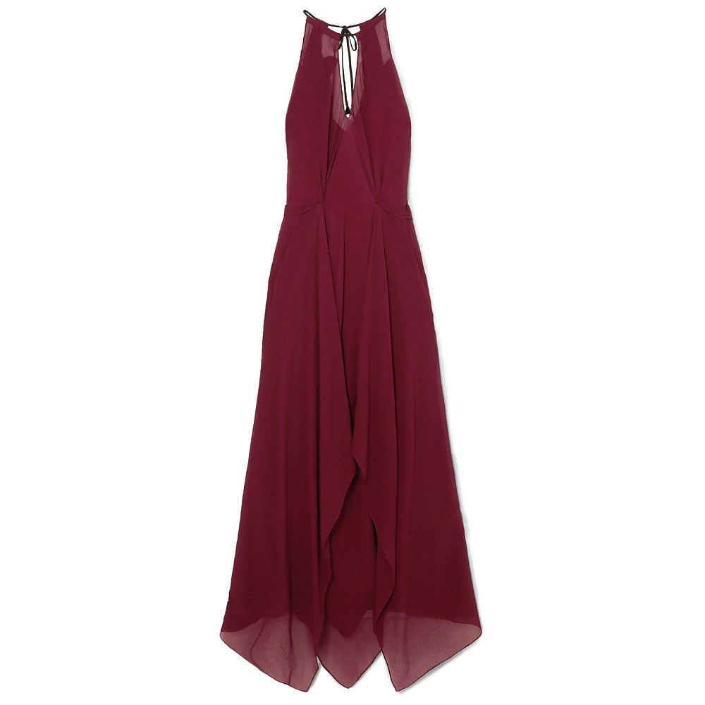 Roland Mouret Risby Hammered Silk-Chiffon Gown