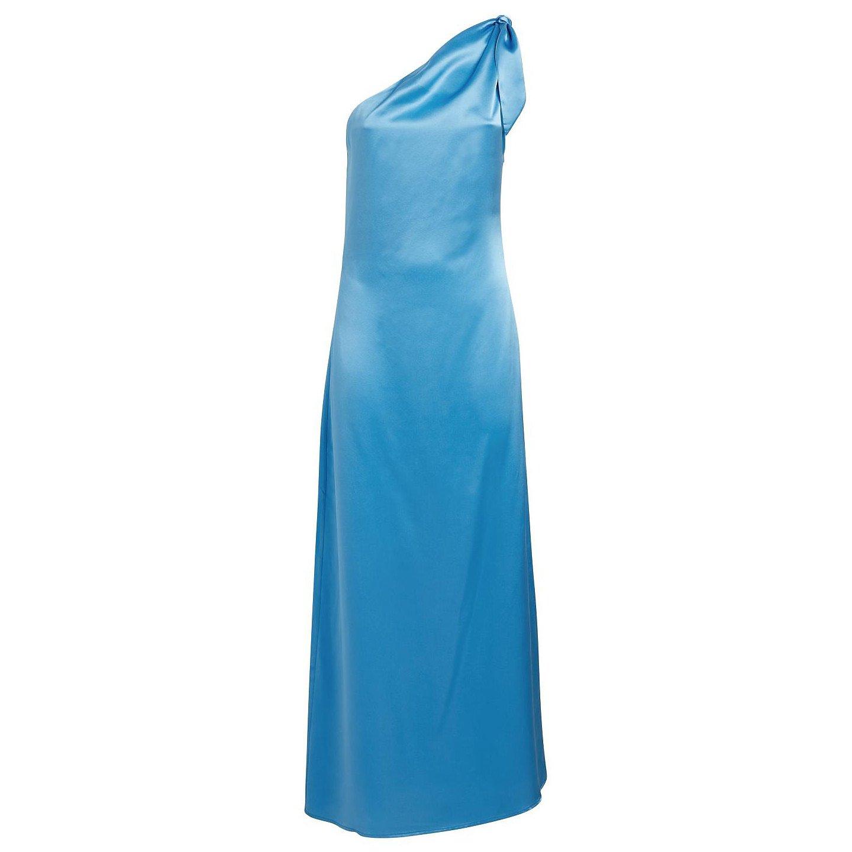 Bernadette Lucy Silk One-Shoulder Dress