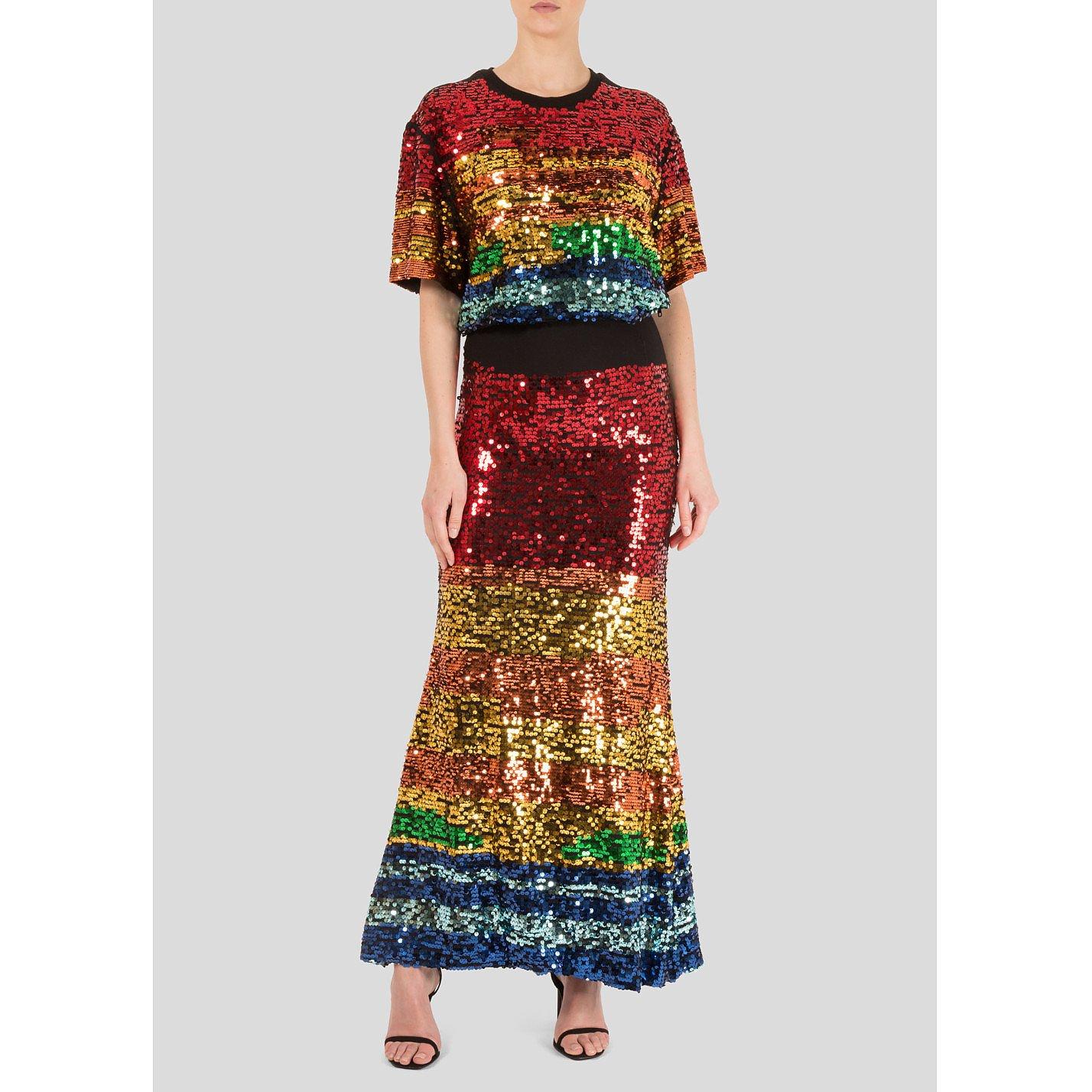Preen Line Pheobe Multicolour Sequin Dress