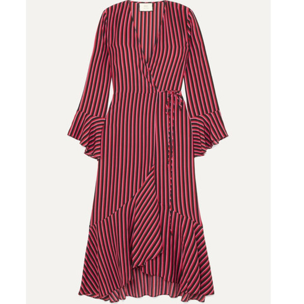 Rixo + Laura Jackson Luna Striped Midi Dress