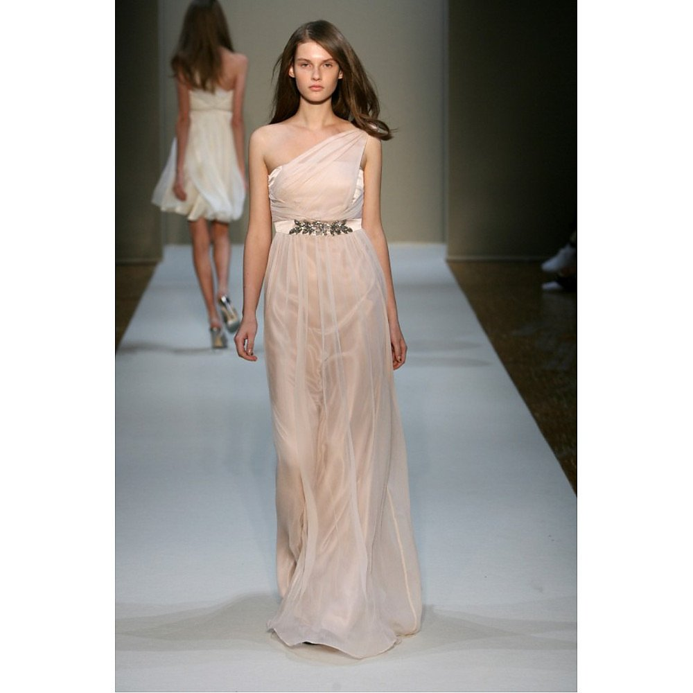Collette Dinnigan Deco Draped One-Shoulder Gown
