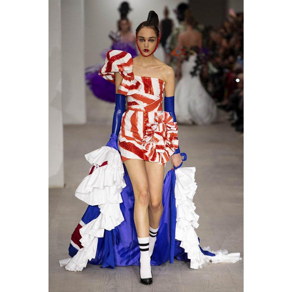 House Of Sheldonhall Hand Painted Silk Mini Dress