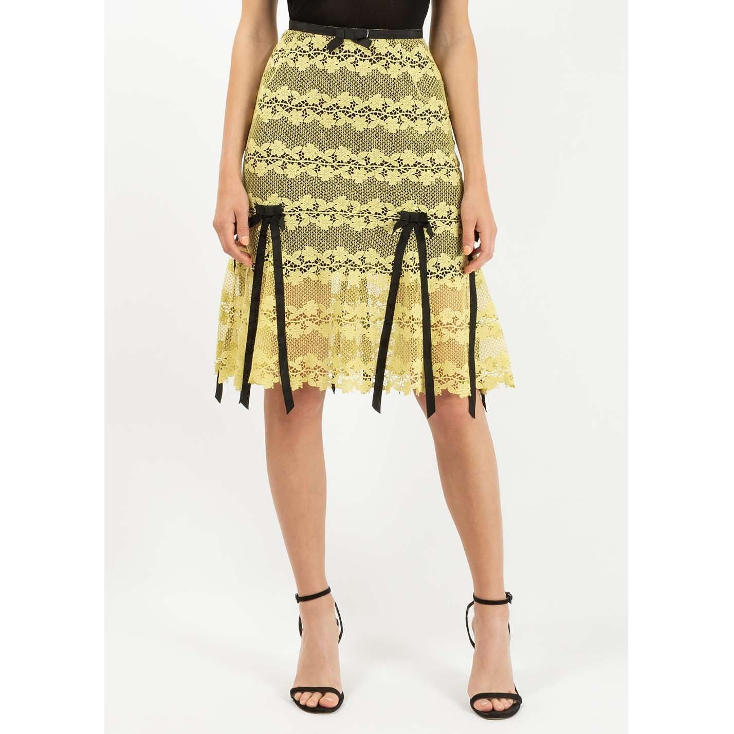 Louis Vuitton Lace and Ribbon Skirt