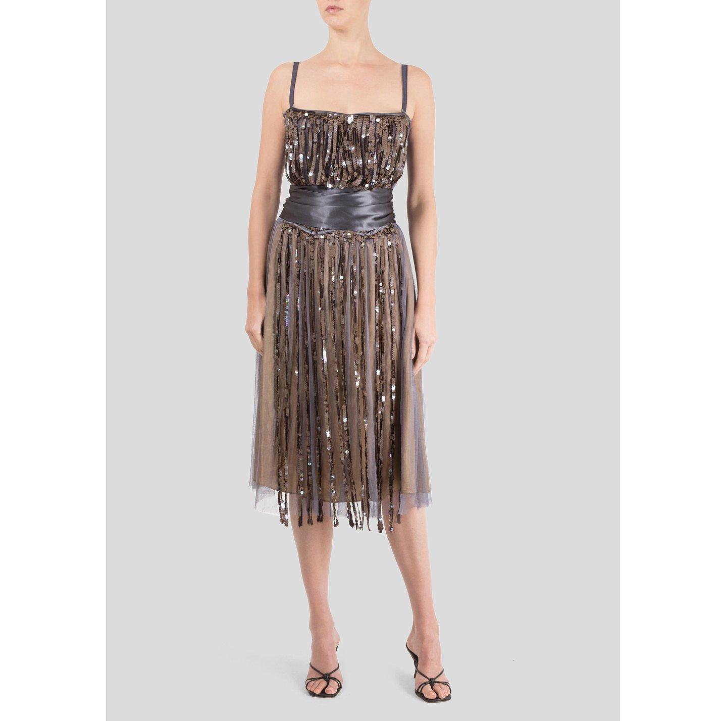 La Petite Salope Fringe Sequin Detail Dress