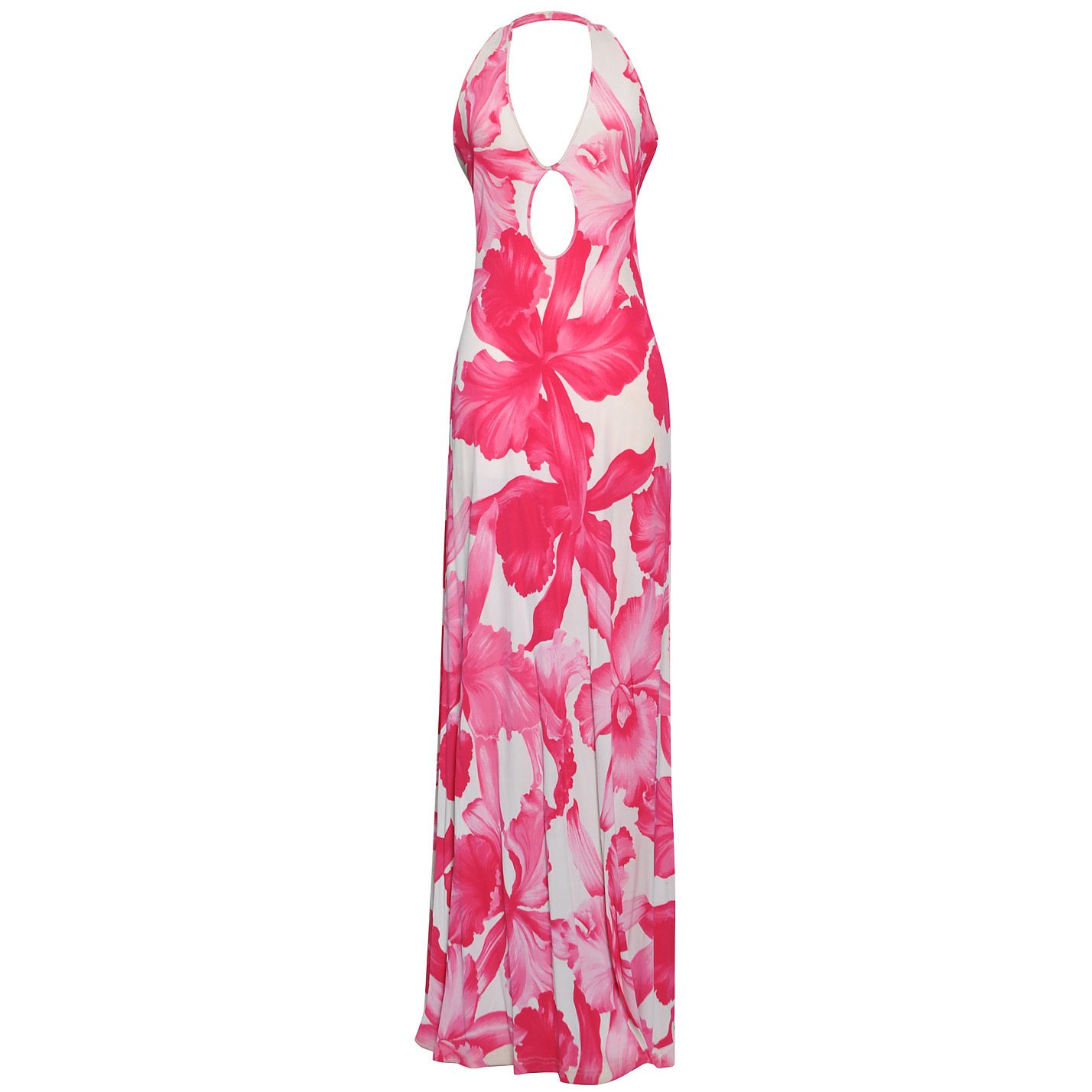 CÉLINE Floral-Print Halterneck Dress