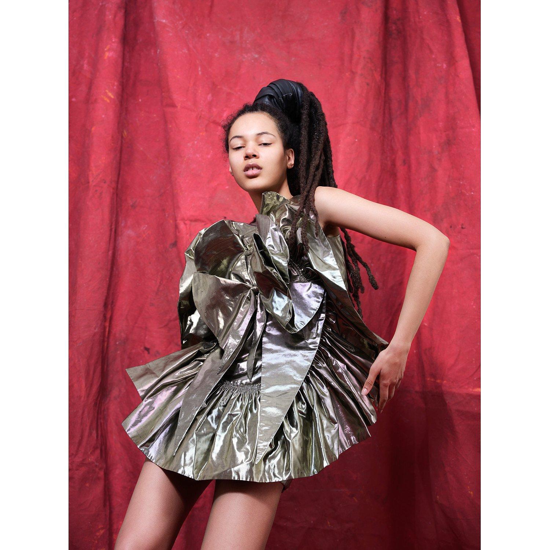 House Of Sheldonhall Metallic Signature Cameo Dress