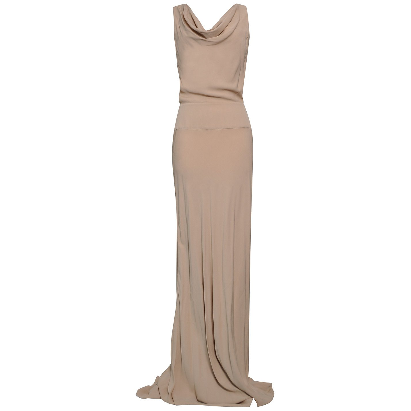 Valentino Backless Cowl-Neck Gown