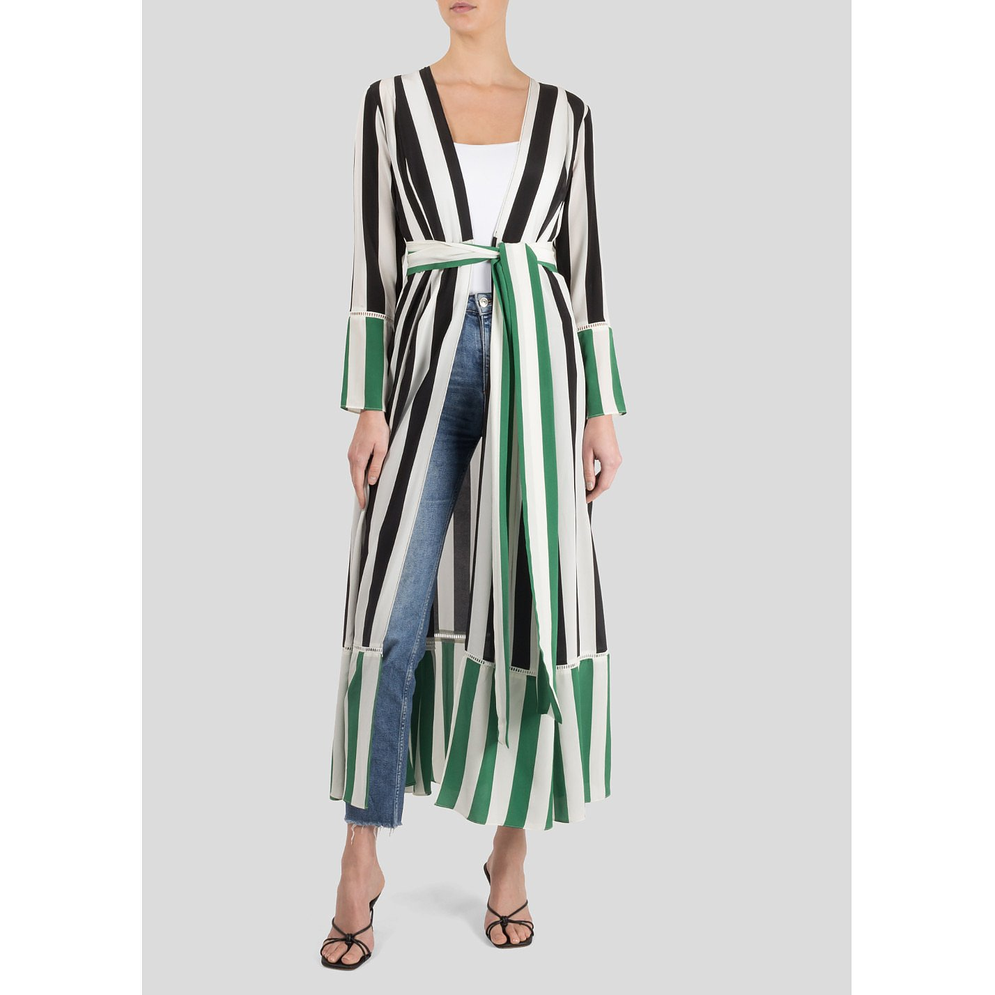 we are LEONE Contrast Robe With Stripes