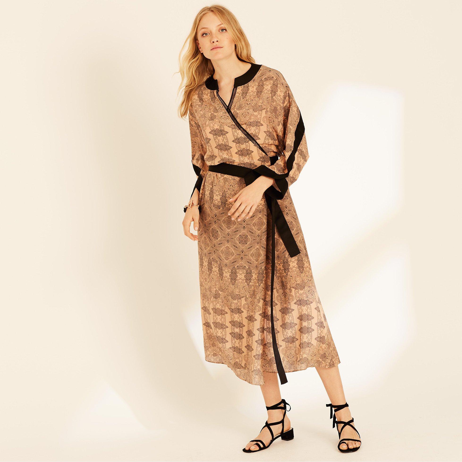 Amanda Wakeley Printed Paisley Wrap Dress