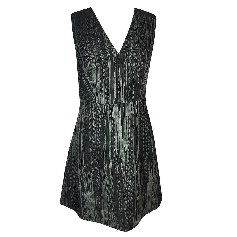 DKNY V-Neck Jacquard Dress