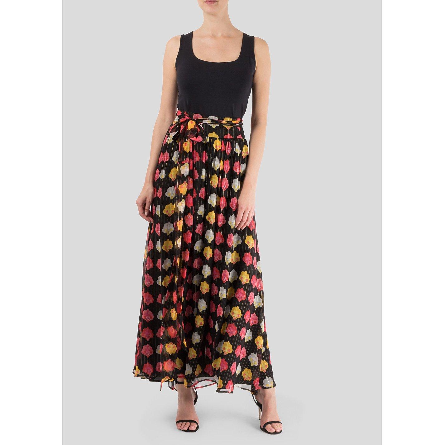 Dhela Flower Print Maxi Skirt