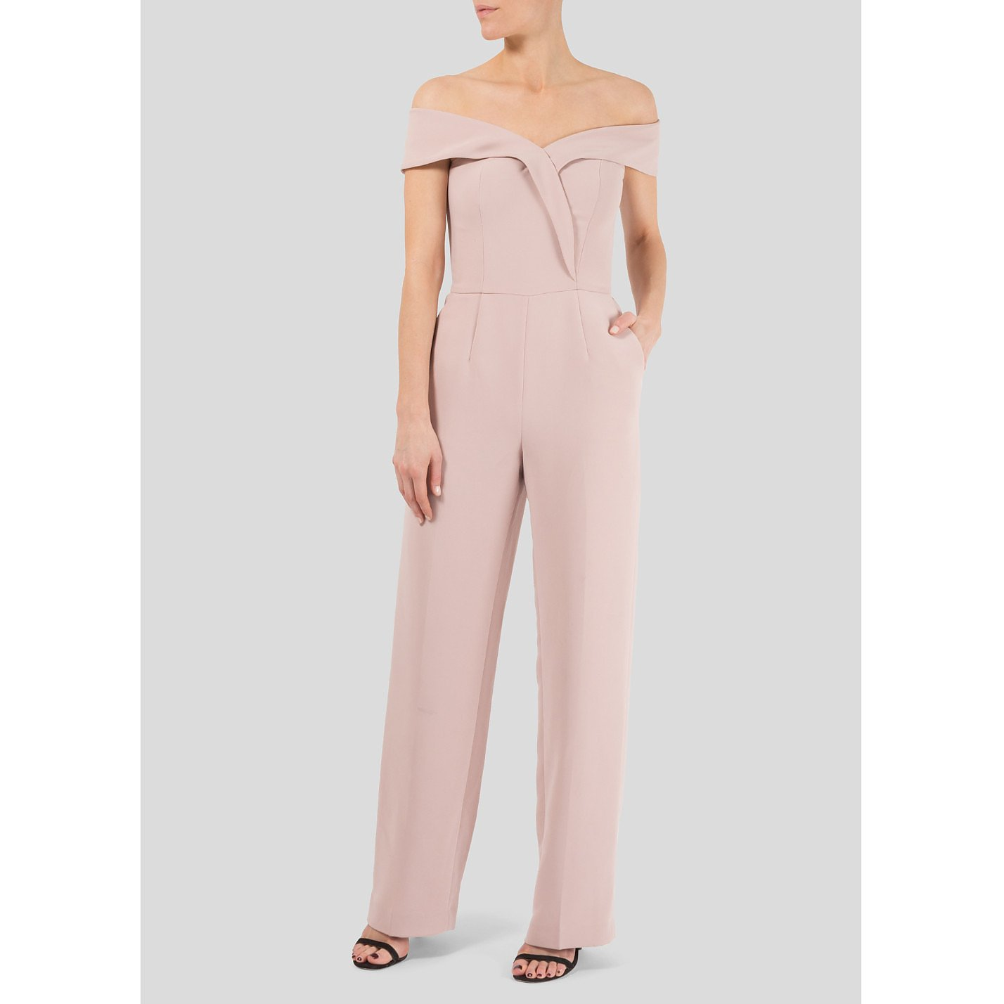 Reiss Off-The-Shoulder Fitted Jumpsuit