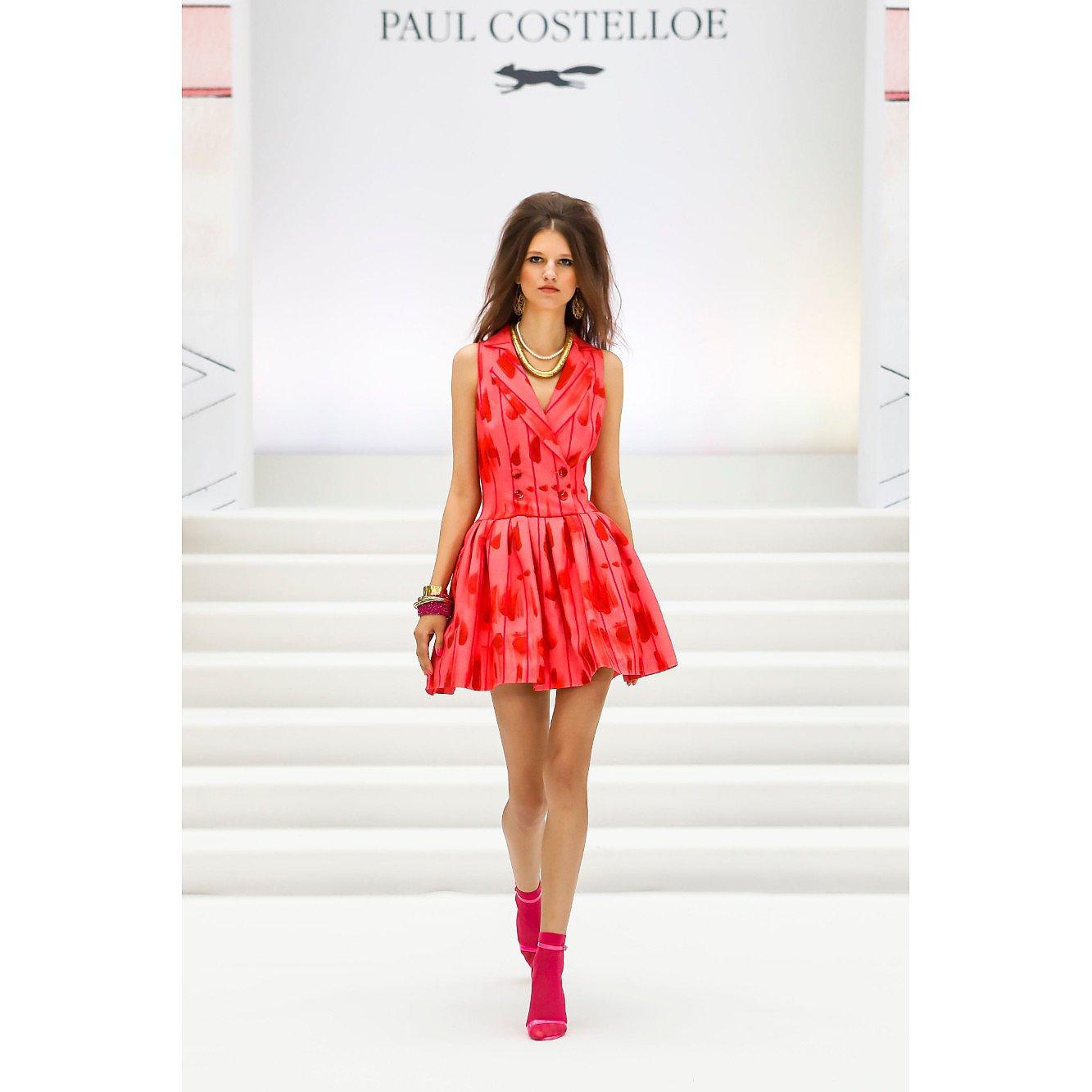 Paul Costelloe Printed Collared Dress