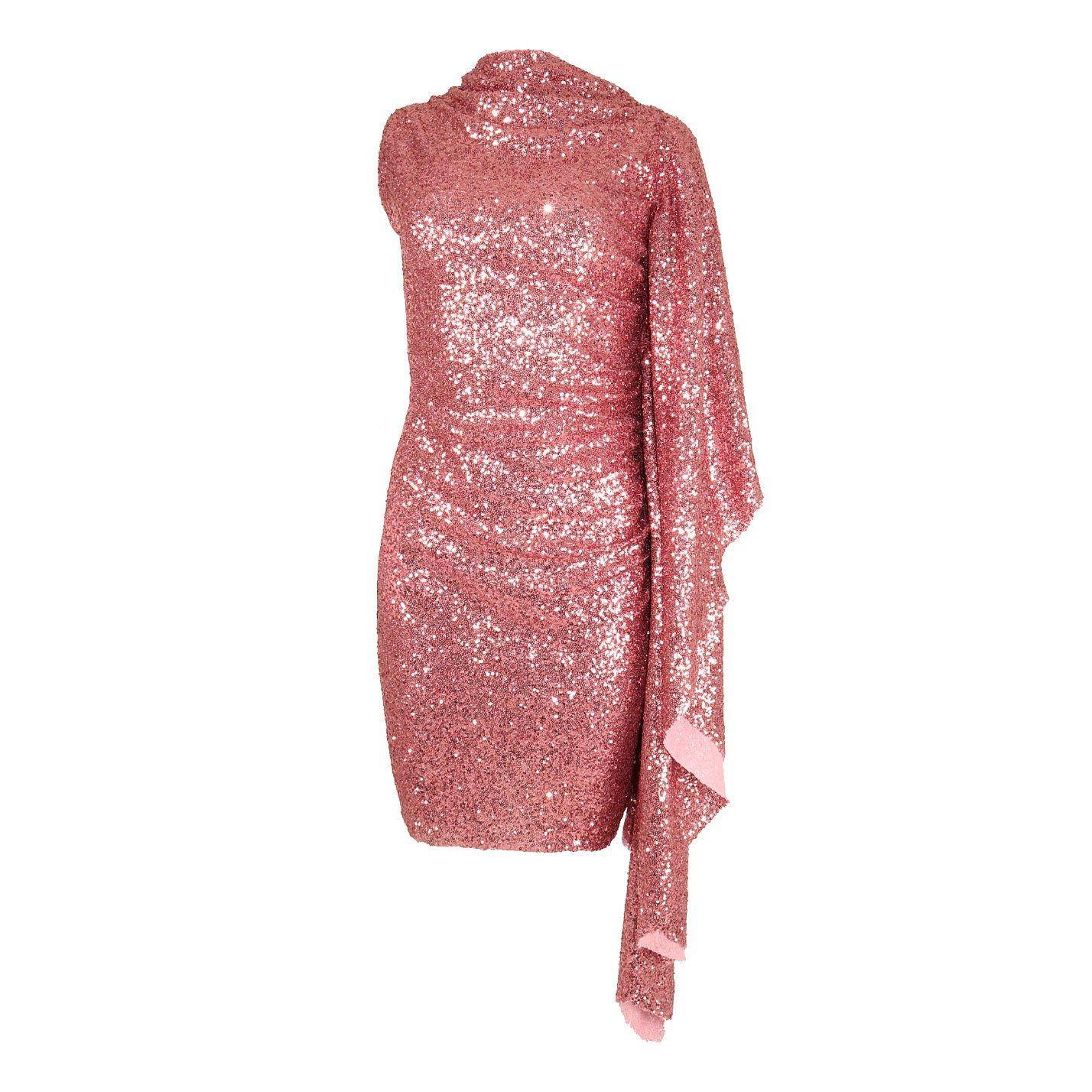 Paula Knorr Relief Ruffled Sequin Mini Dress