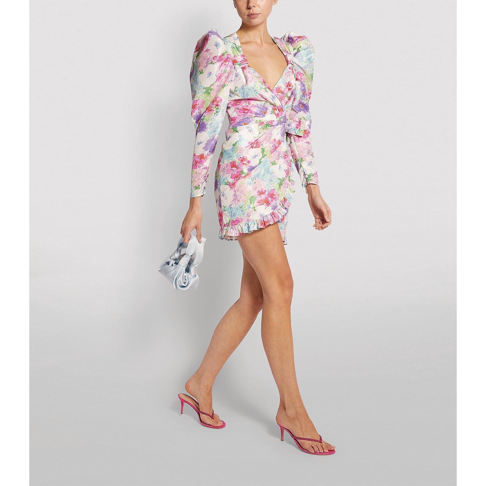 Alessandra Rich Floral Mini Dress
