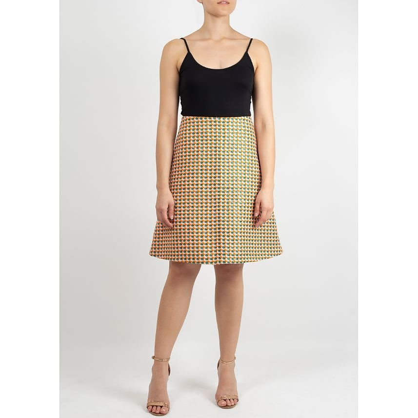 Carven A Line Check Patterned Skirt