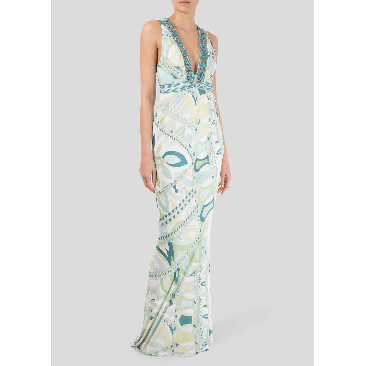 Emilio Pucci Multiprint Maxi Dress