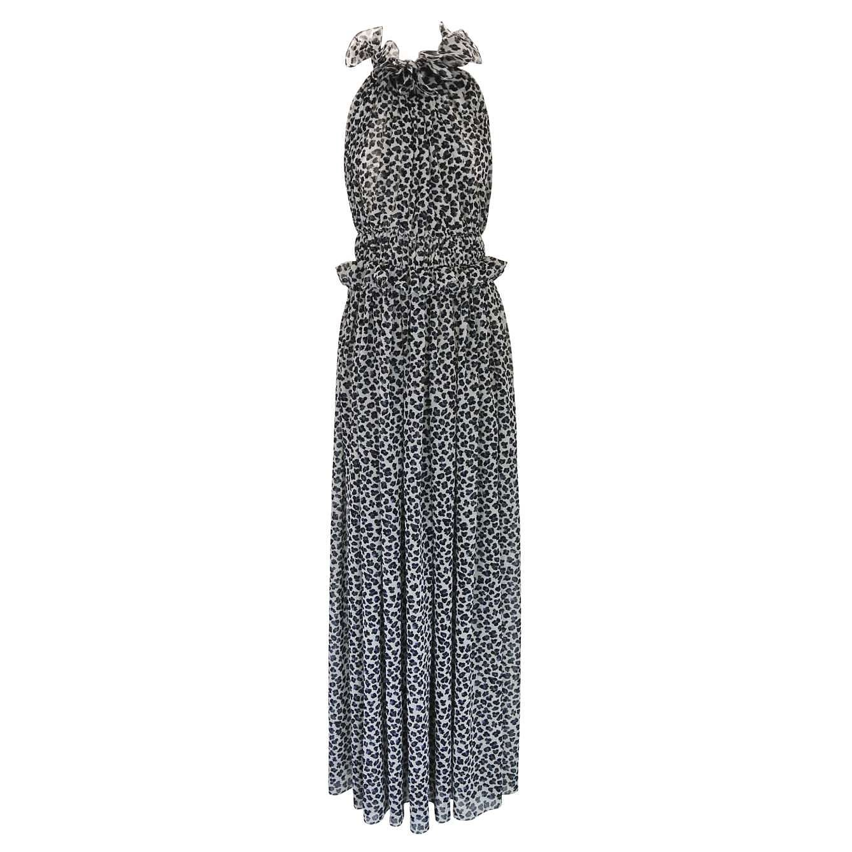 Starsica Leopard Print Halter Dress