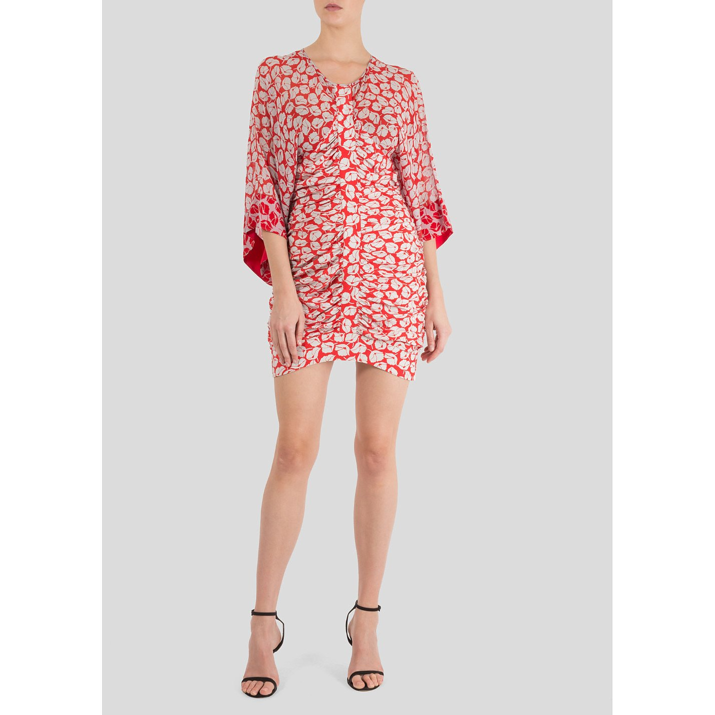 Alice McCall Floral Print Ruched Mini Dress