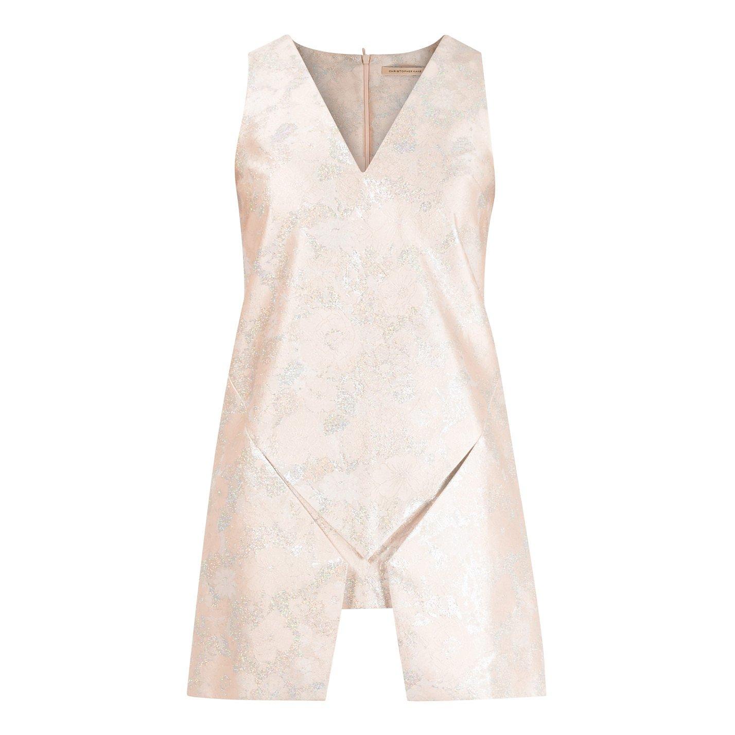 Christopher Kane Metallic Jacquard Origami Mini Dress