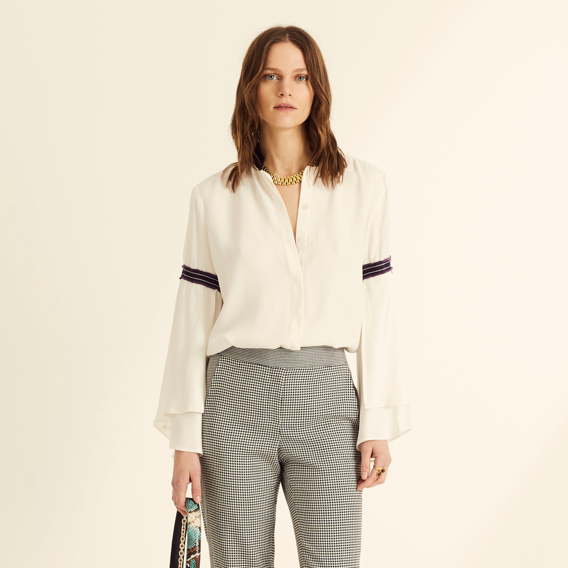 Amanda Wakeley Flutter Sleeve Shirt