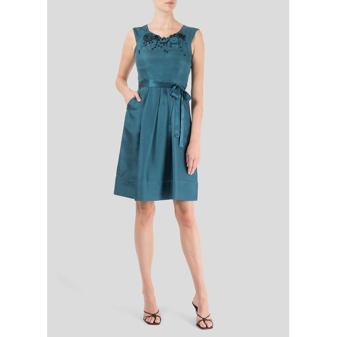 Nocturne Embellished Sleeveless Dress