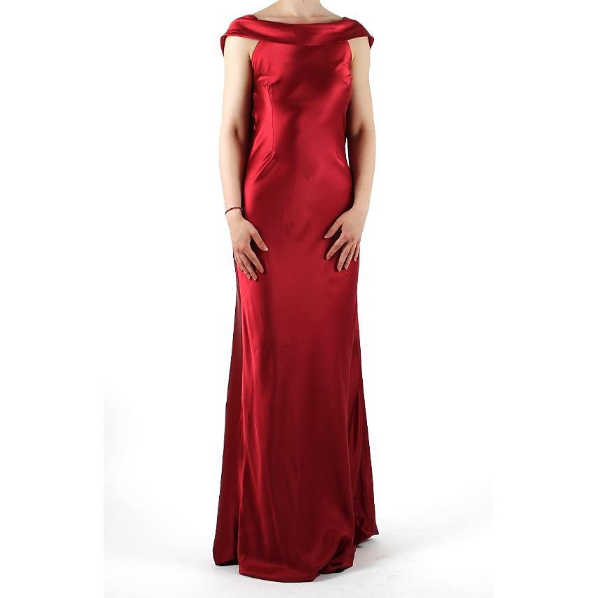 Vlasta Collu Backless Silk Gown