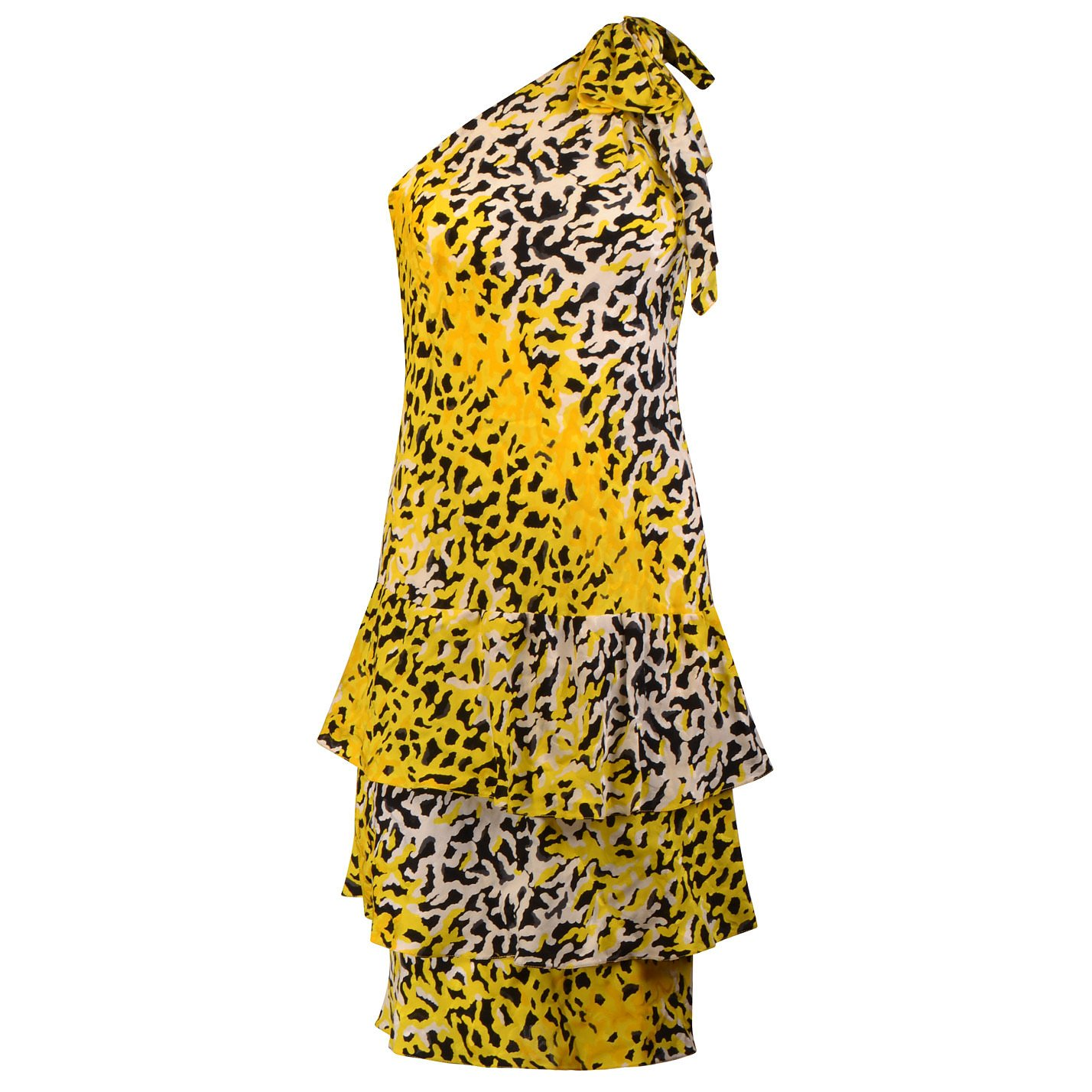 Pallant One-Shoulder Animal Print Dress