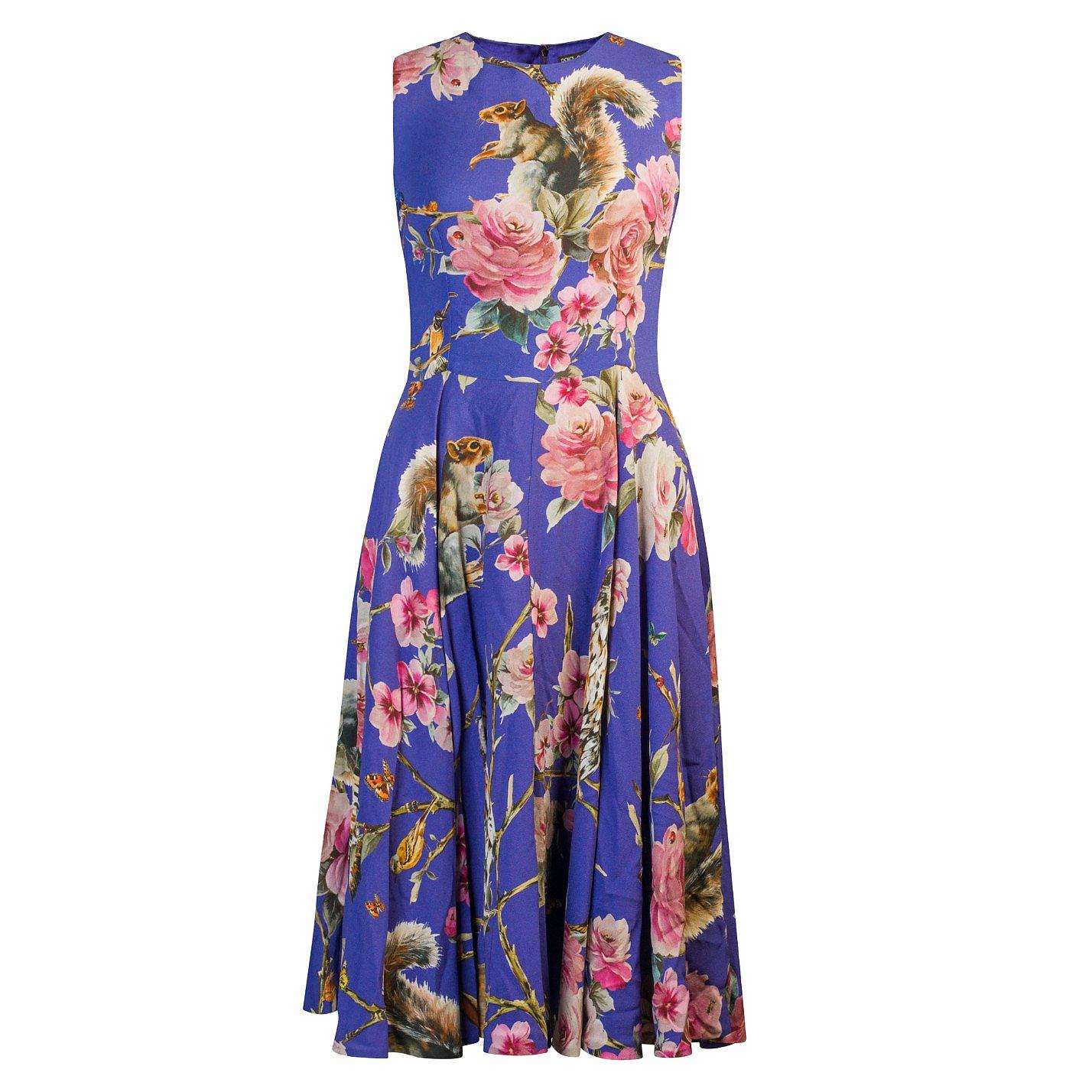 DOLCE & GABBANA Animal & Floral Print Dress