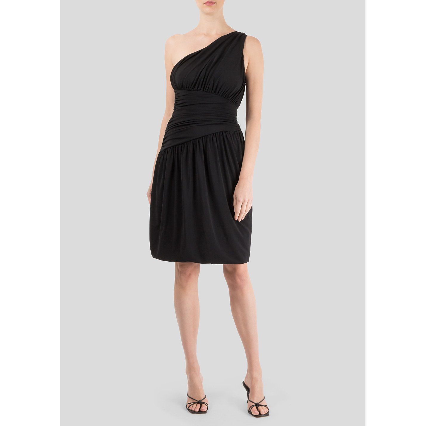 Vera Wang One Shoulder Mini Dress
