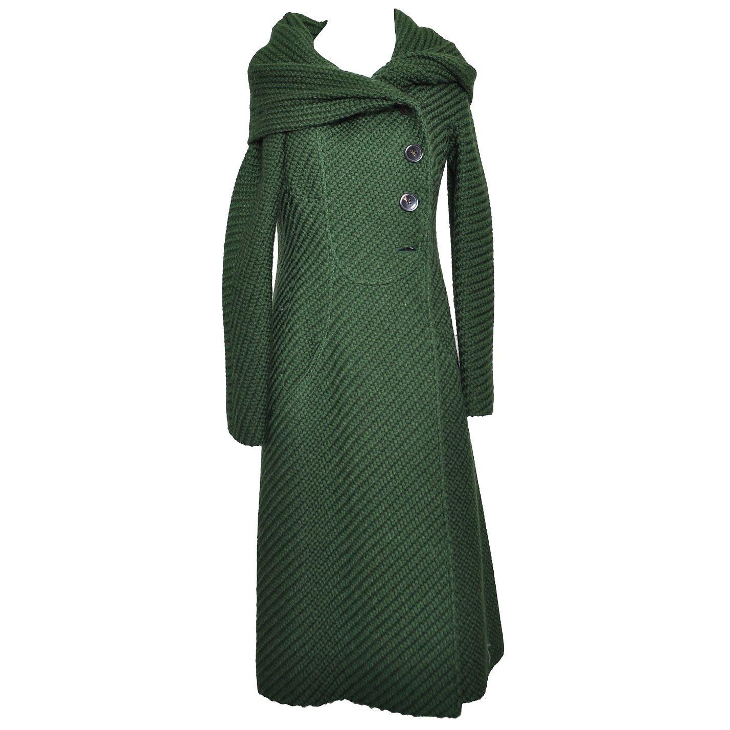 Valentino Chunky Knit Coat