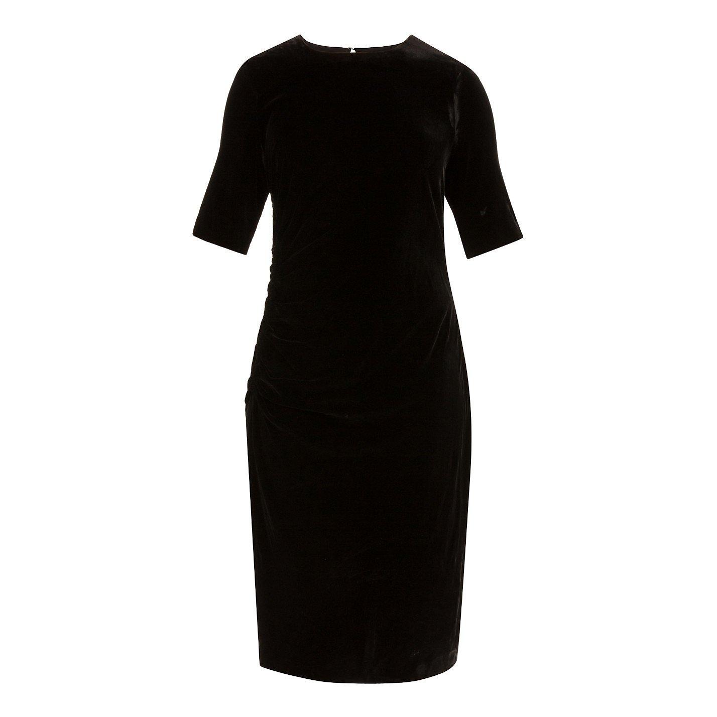 L.K. Bennett Ruched Velvet Dress