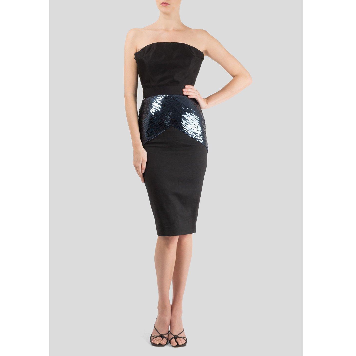 Victoria Beckham Strapless Cocktail Dress