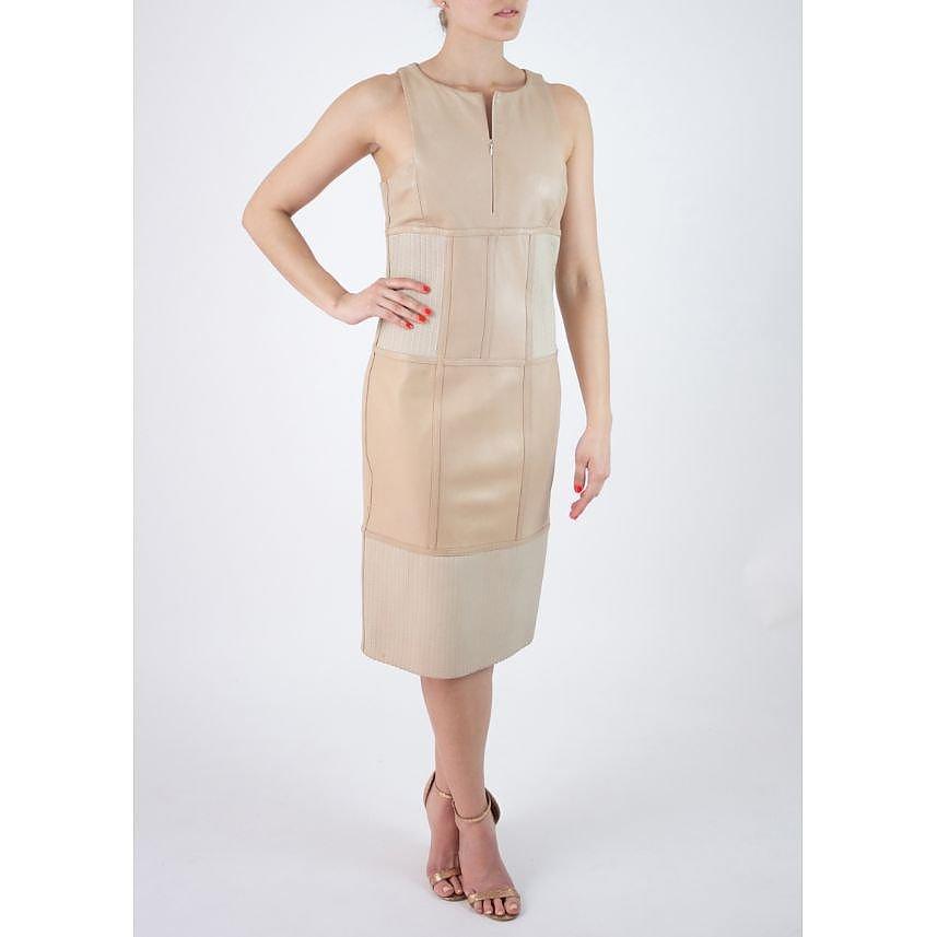 Amanda Wakeley Sleeveless Leather Midi Dress