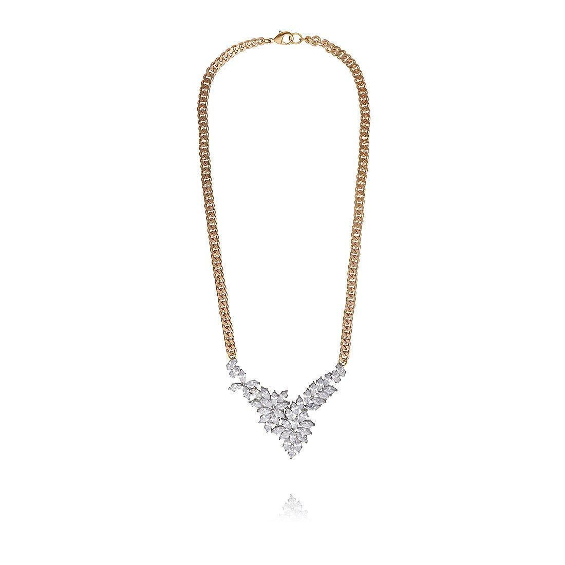 Fallon Crystal Mini Bib Necklace
