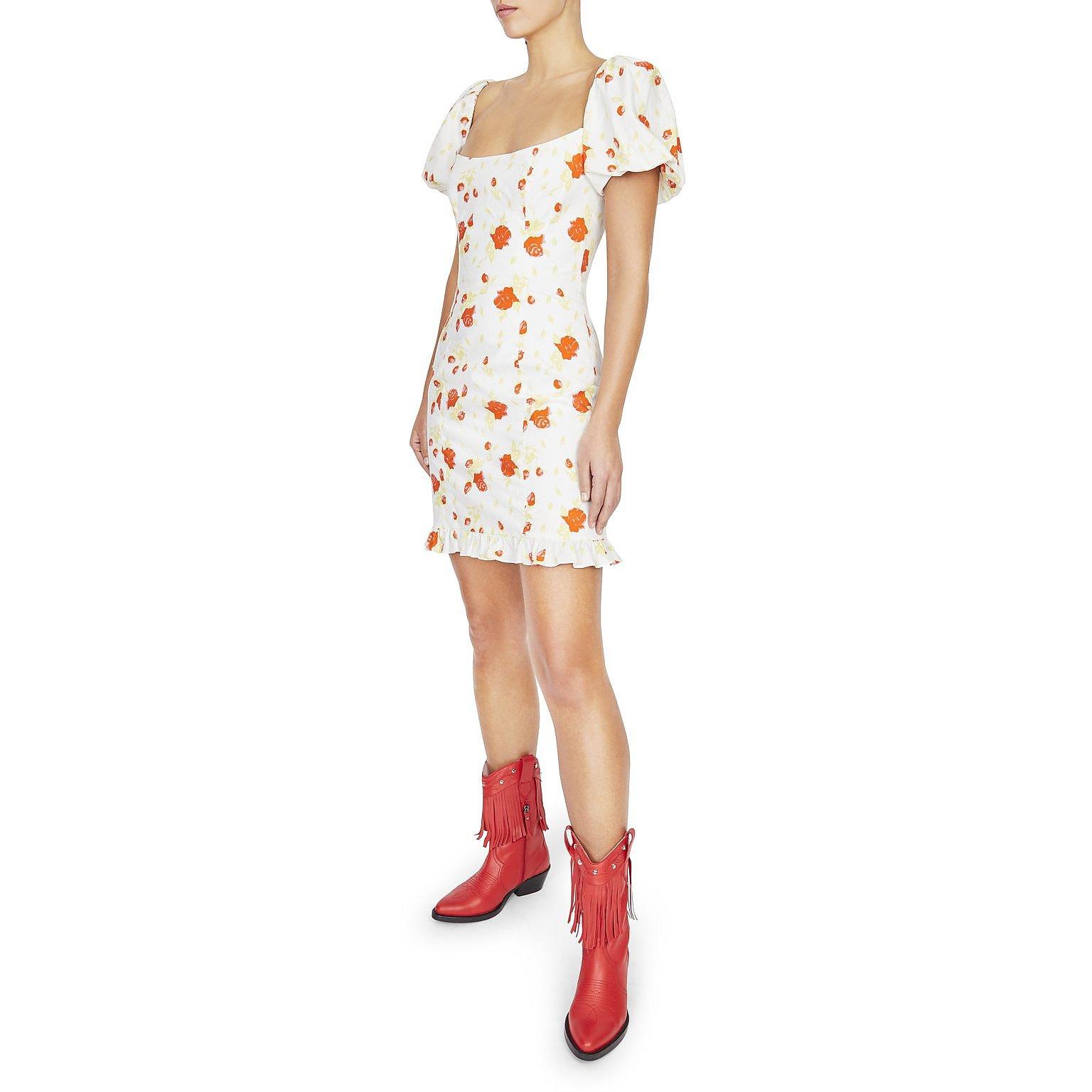 De La Vali Koko Rose Cotton Mini Dress