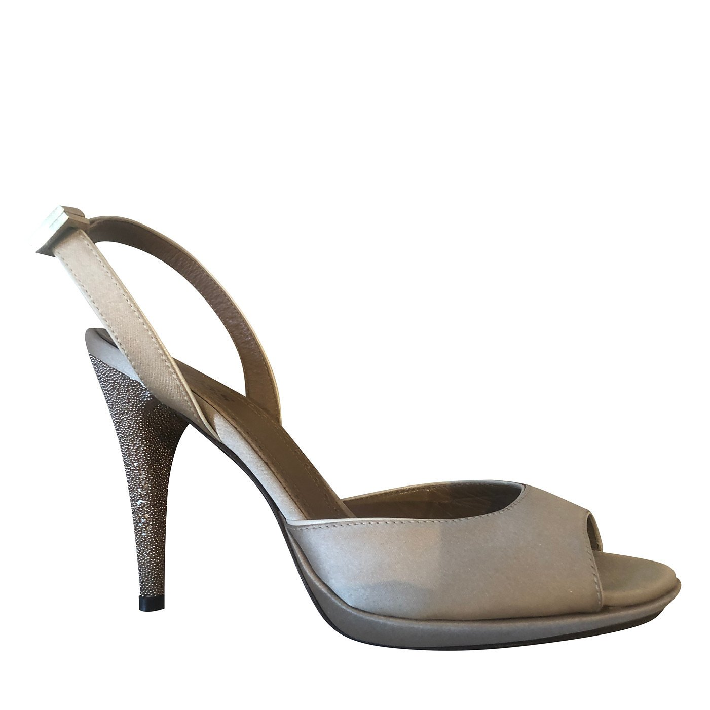 HUGO BOSS Satin Stiletto Pumps With Jewelled Heel