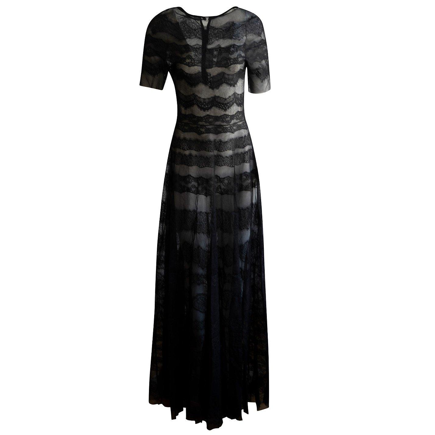Emilio De La Morena Cotton And Silk Tulle & Lace Gown