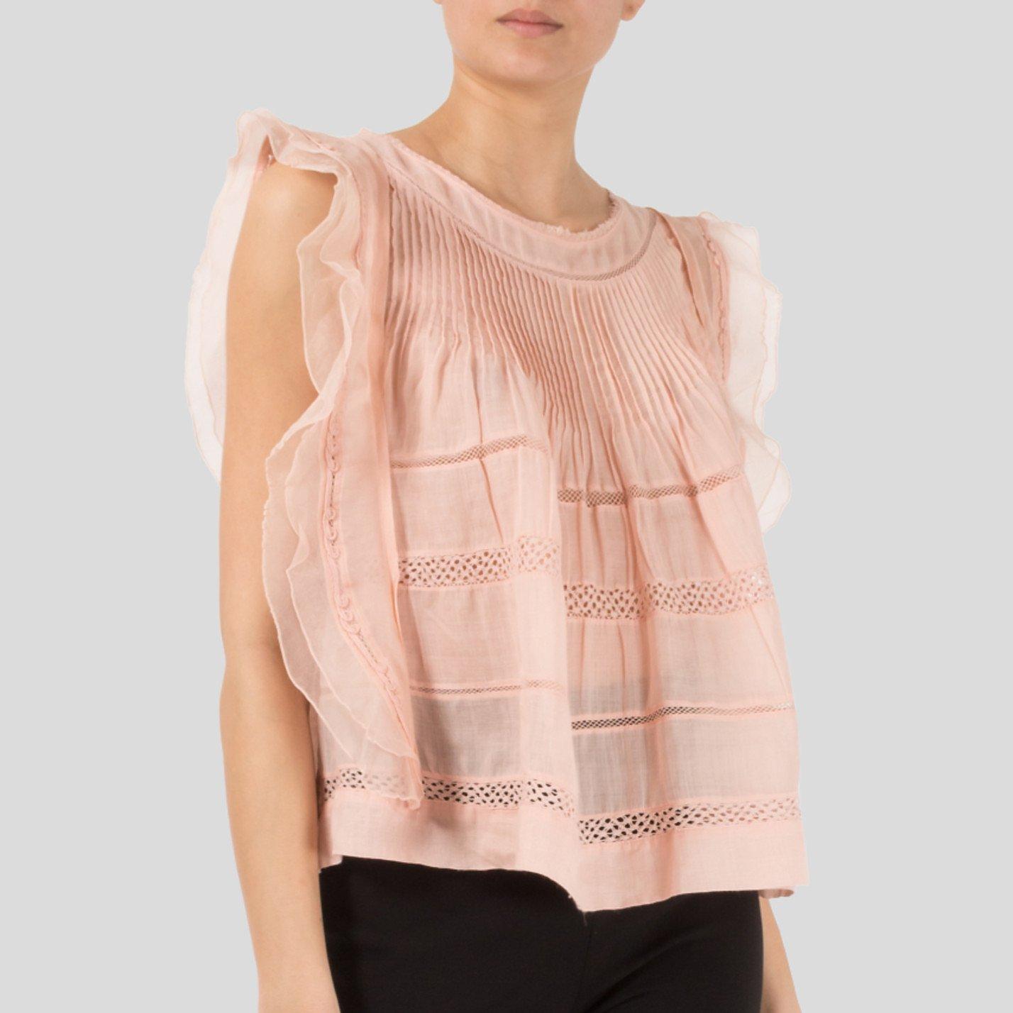 Isabel Marant Ojima Ramie Lace And Silk Top